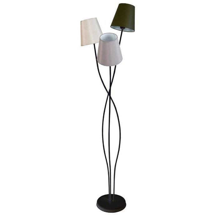 LAMPADAIRE LILLE Lampadaire en acier - Abat-jour Tambour Tiss