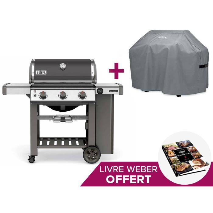 Barbecue weber genesis ii e 310 gbs smoke grey housse achat vente barbecue barbecue weber - Nettoyage grille barbecue weber ...