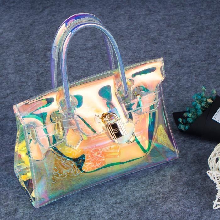Pvc Hologram Transparent Laser bandoulière sac à main Sac étanche TIIW1