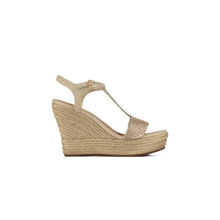 Sandales Compensees Ugg Fitchie Ii Dore Femme