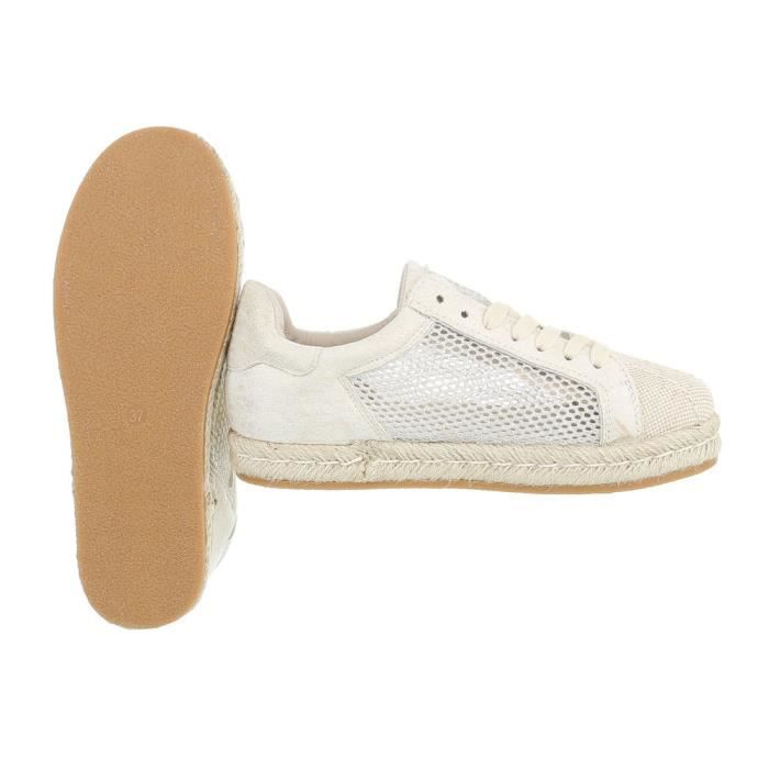 Chaussures femme chaussures sportlaceter Sneakers Beige 41