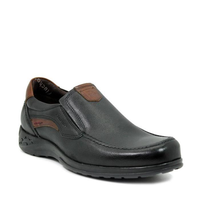 FLUCHOS Chaussures Mocassin - Élastique - Cuir - Noir - Taille - Quarante-deux Homme Ref. 2066_36850