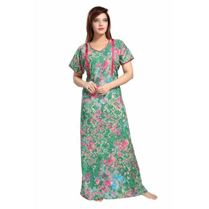 Womens Soft & Premium Poly-cotton Feeding Nighty - Maternity Dress (medium Thick Fabric). 589 LMU35 Taille-34