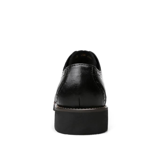Chaussures Taille Un 45 Lesxi Moderne Oxford Bullock Cuir Design En Sculpté Avec Creux Ovx7ndx