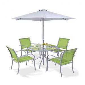Ensemble Terrasse Table Chaises Et Parasol