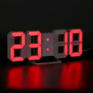 HORLOGE - PENDULE Horloge Murale De Nombres Numériques Led Avec l'Ho
