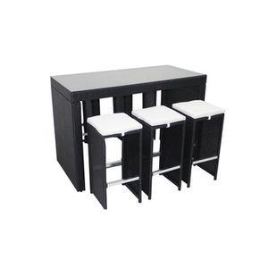 Table haute en resine - Achat / Vente pas cher -