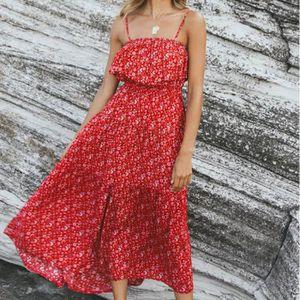 où acheter le magasin incroyable sélection La Bohême Mode Femmes été Sexy Beach Robe longue Rouge