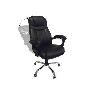 CHAISE DE BUREAU Chaise de bureau, fauteuil de bureau noir inclinab