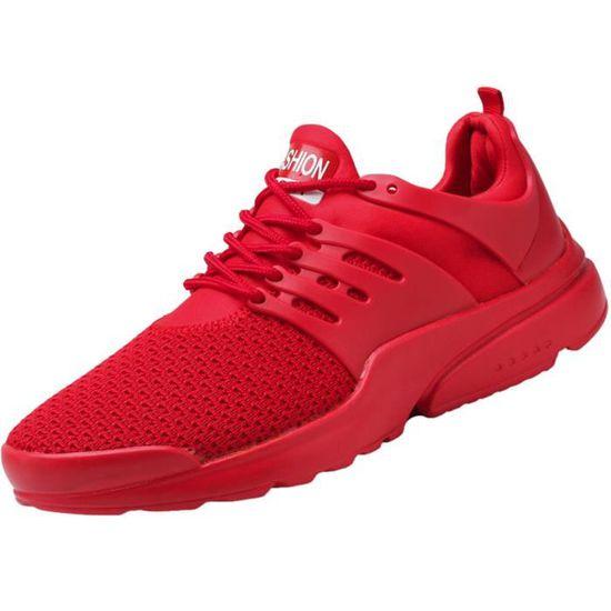 Baskets Mode Mesh Mesh Mesh Chaussures de course à lacets@rouge  Rd - Achat / Vente basket