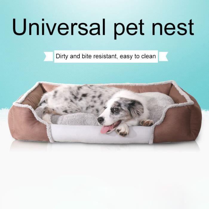 (marron)tapis Pour Chien Couleur Unie Fashion New Cute Pet Universel Nest Accueil Xl Code Taille: 84 X 62 17 Cm
