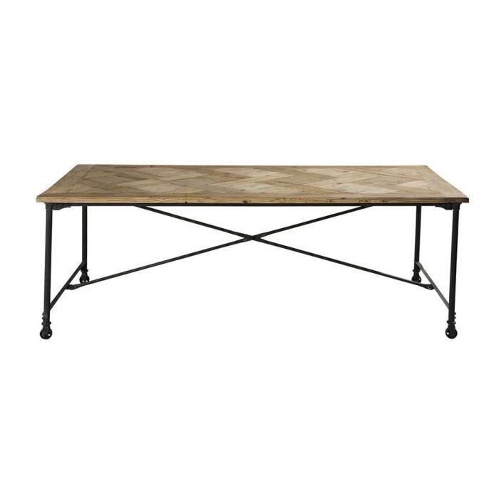 Table à Manger Design Vintage Industriel Bois Et Achat Vente