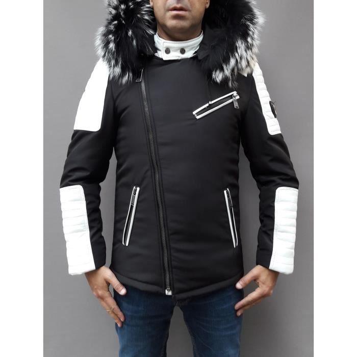 Veste Longue Homme Noir Fashion