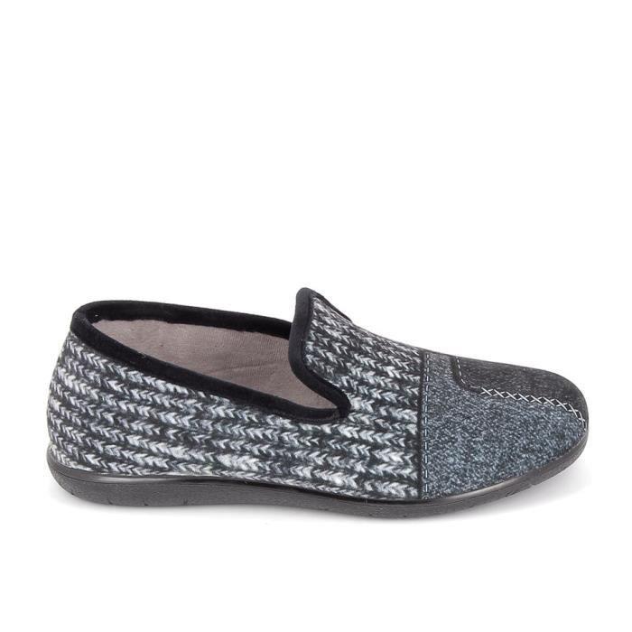 Chaussons d'intérieur-Pantoufles BOISSY Pantoufle Tissu 7037 Noir
