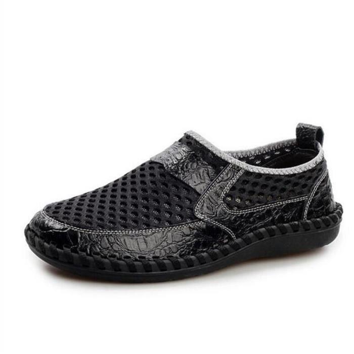 homme chaussure Marque De Luxe 2017 ete Moccasin Qualité Supérieure Moccasins  Nouvelle Mode Loafe hommes Grande 2696293cec41