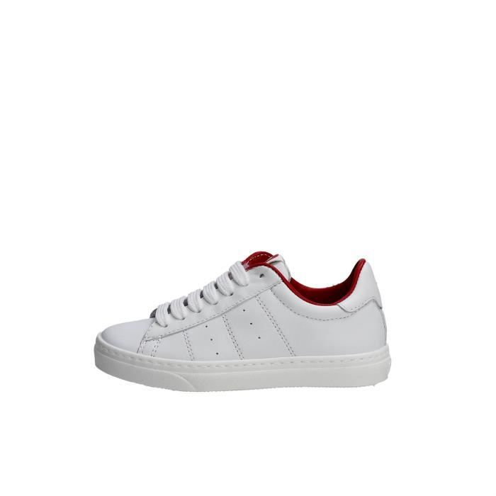 Nyon Sneakers Homme Blanc/Rouge, 43