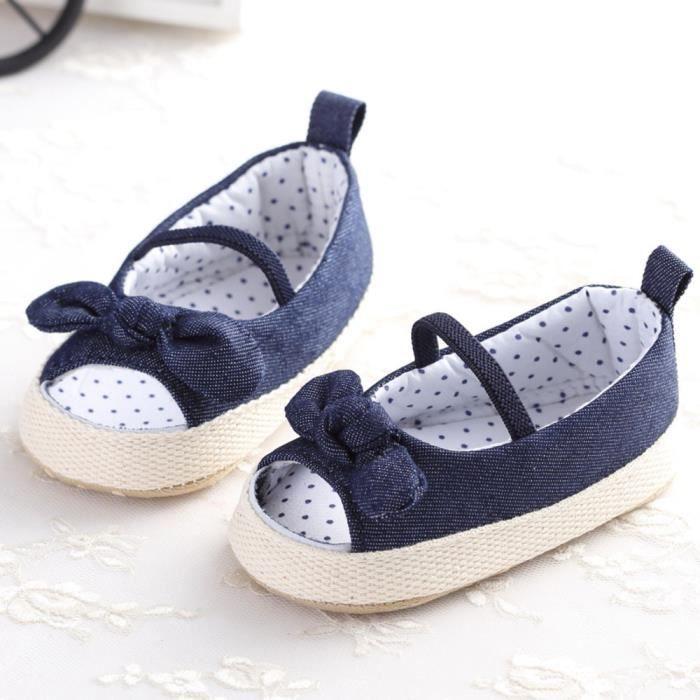 Frankmall®Bébé enfant fille douce berceau semelles Chaussures nouveau-nées sandales BLEU#WQQ0926436