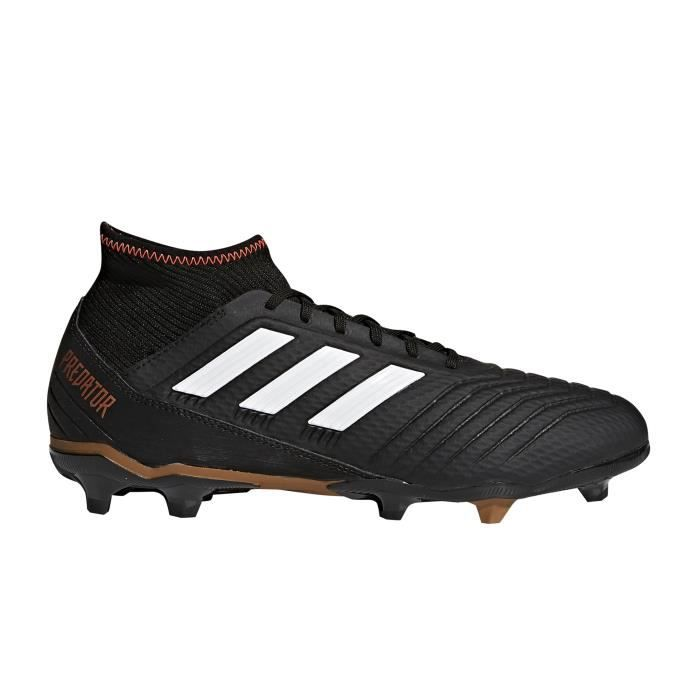 adidas Performance PREDATOR 18.2 FG Jaune / Noir / Rouge - Livraison Gratuite avec - Chaussures Football Homme
