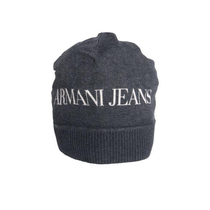 9643463202a4 Bonnet beanie Armani Jeans en noir et bleu marine u6411c2 Noir Black ...