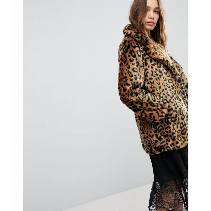 grand choix de ad095 620fe Pimkie Manteau fausse fourrure imprimé léopard Taille-38 ...