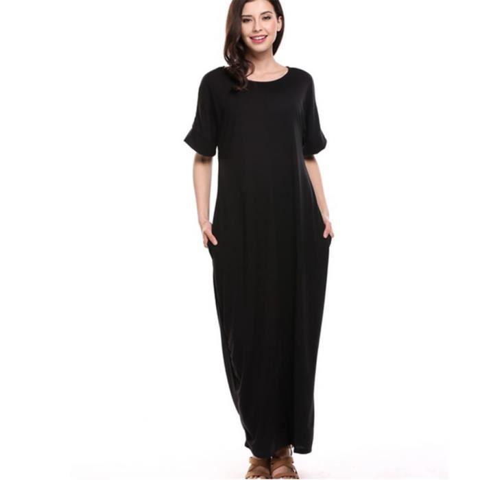 a04d0b901d99 Vêtement Femme- Robe - longue classique Noir Noir - Achat   Vente ...