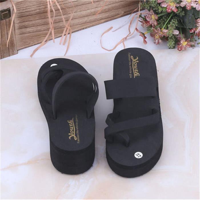 Pum Confortable Sandale Talons Antidérapant Classique Durable Hauts wk0P8nO