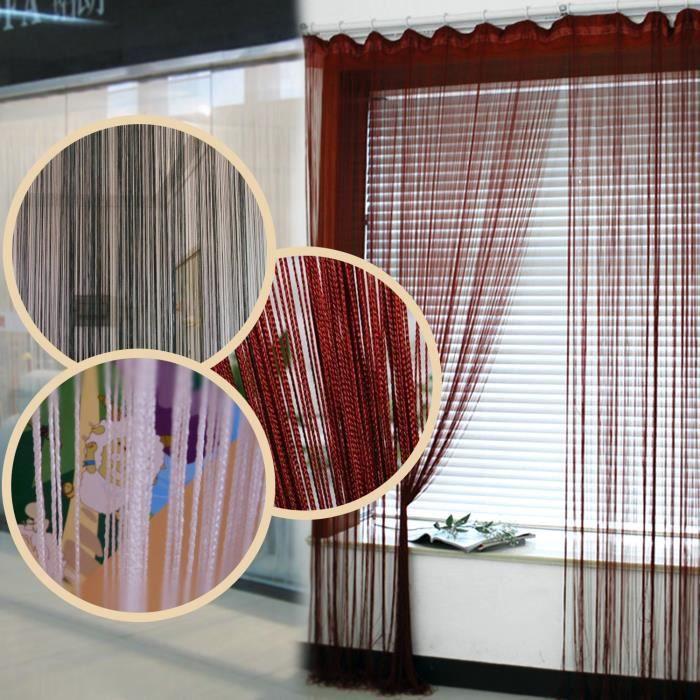 Rideau à Fil Voilage Porte Fenêtre Frange String Curtain - Voilage porte fenetre