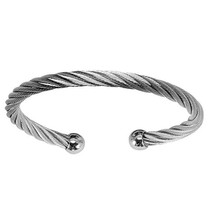 50d84d52a5f3df Bracelet Esclave Homme Câble Torsadé Acier - Achat   Vente bracelet ...
