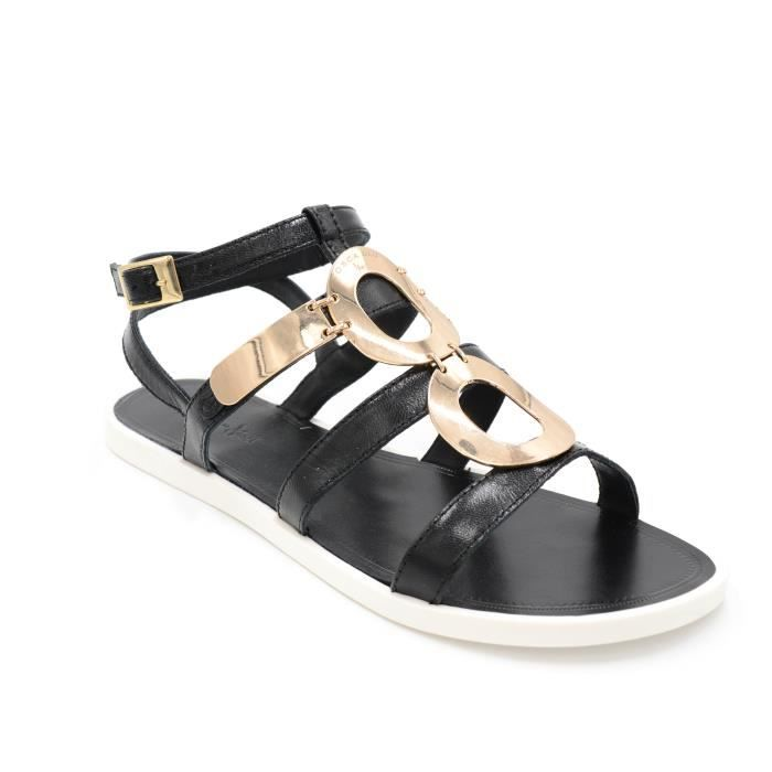 Tosca Blu Sandale femme basso cuir blanc con placca oro art.ss1614s903 T. 36
