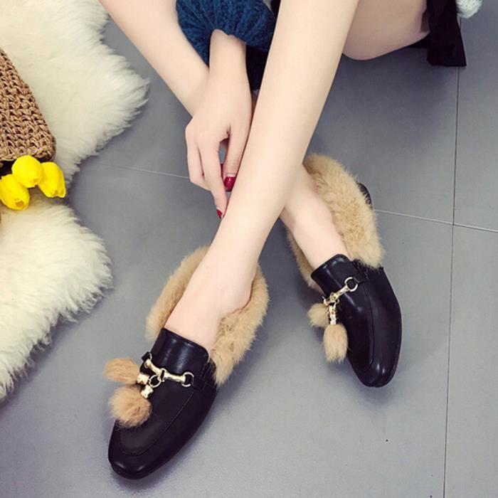 Chaussures Bottines friendprice12427 Tassel Avec Plat slip Mode Femme Anti 6xvdwTq
