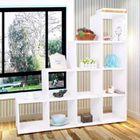 meuble de sparation design escalier avec 10 cases coloris blanc achat vente bibliothque meuble de sparation design cdiscount - Meuble De Separation Design