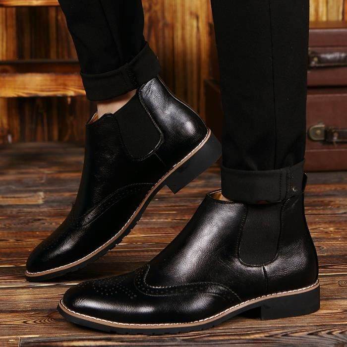 Richelieu Homme Rue Coolen cuir de vache en cuir Richelieux noir taille39