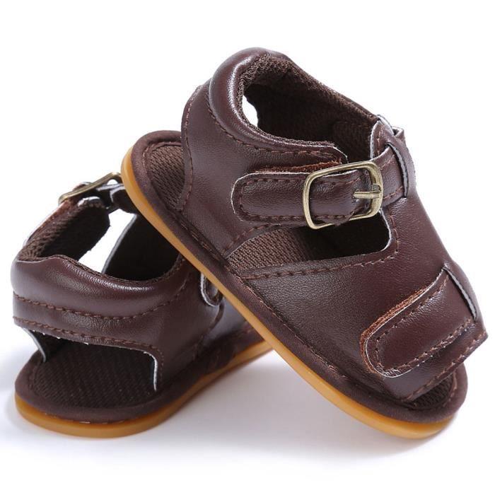 BOTTE Bébé nourrisson enfants fille garçons lit bébé nouveau-né sandales chaussures@BrownHM 9U642Mi
