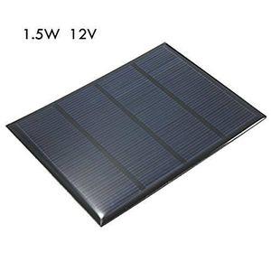 KIT PHOTOVOLTAIQUE 1.5W 12V Mini Panneau Solaire Module Cellulaire Pe