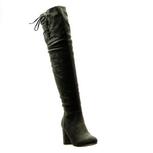 BOTTE Angkorly -  Cuissarde  sexy souple femme noeud lac