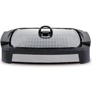 GRILL ÉLECTRIQUE Simeo - barbecue électrique posable 2000w noir-ino