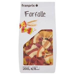 PÂTES ALIMENTAIRES FRANPRIX Farfalles Colorées Rayées 200 g