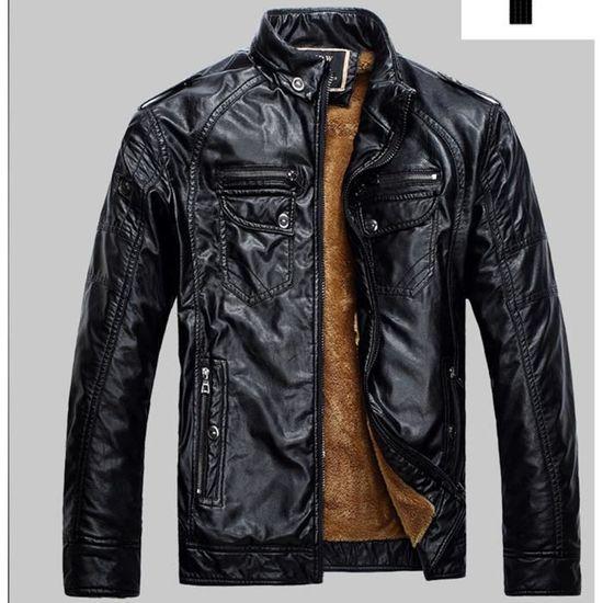 Homme Cuir Pu Mode De Zipp Veste Nouveau Design EBvOaqR