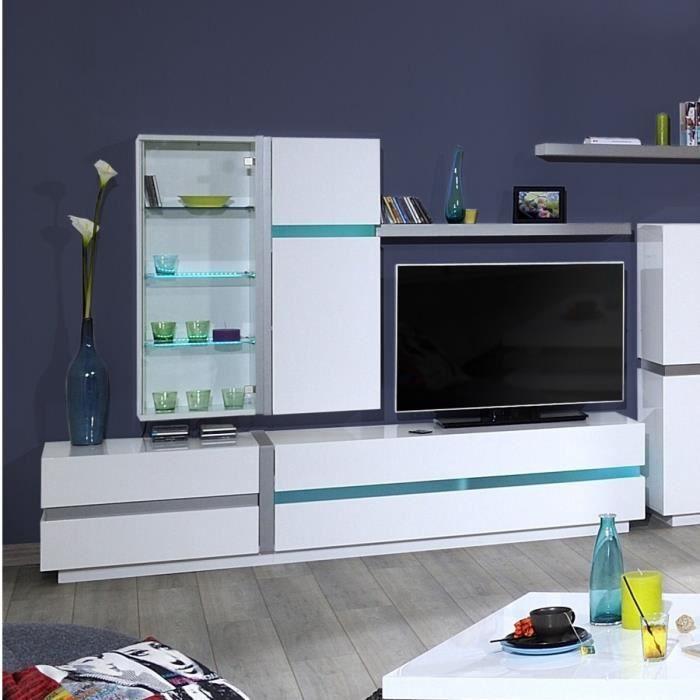 43x30x110 cm - 1 porte - En panneaux de particules - Blanc - Fabrication 100% françaisePETIT MEUBLE DE RANGEMENT