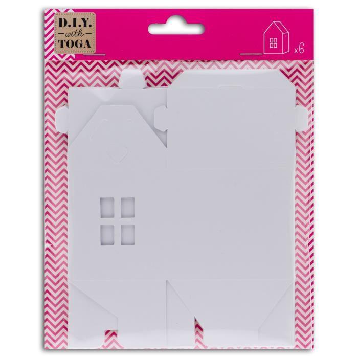 D.I.Y with Toga 6 maisonnettes blanches à décorer