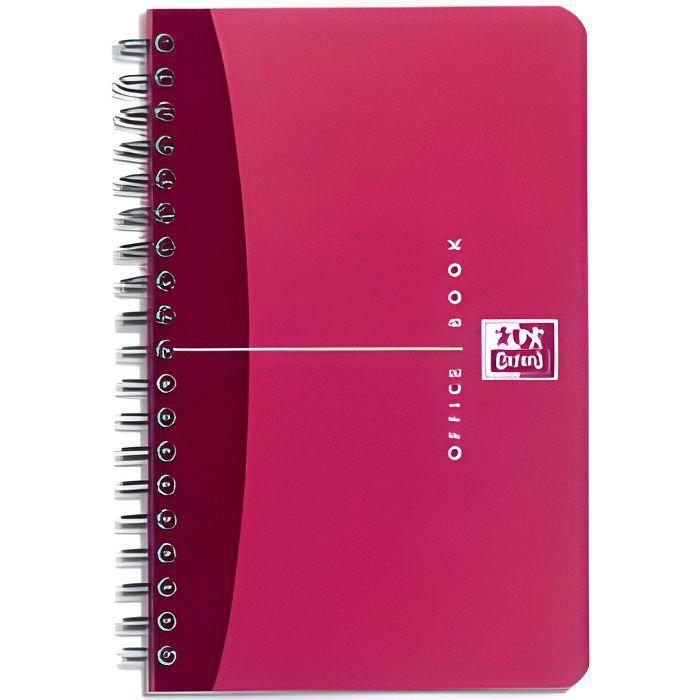 OXFORD Carnet reliure intégrale - 11 x 17 cm - 180 pages - Petits carreaux Office Essentials