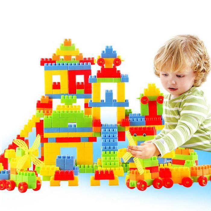 les jouets pour enfants de blocs de construction en plastique 400 blocs de achat vente bo te. Black Bedroom Furniture Sets. Home Design Ideas