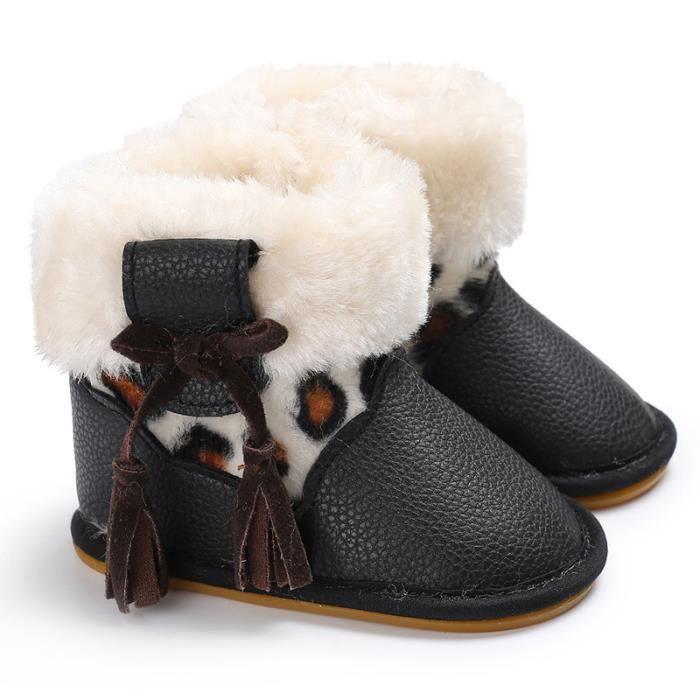 Chaussures de bébé Hiver Garde au chaud 0-1 ans bébé Antidérapant Bottes-blanc CUZaa