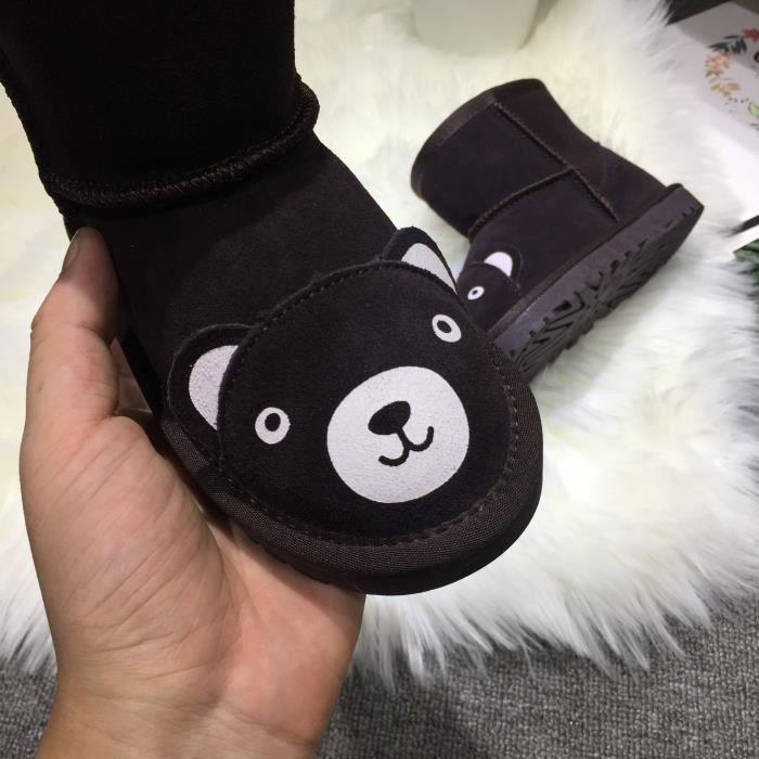 Bottes pour enfants, 2018, motif de dessin animé, bottes de neige, bottes courtes, hiver, nouveau style, fond plat, confortable,
