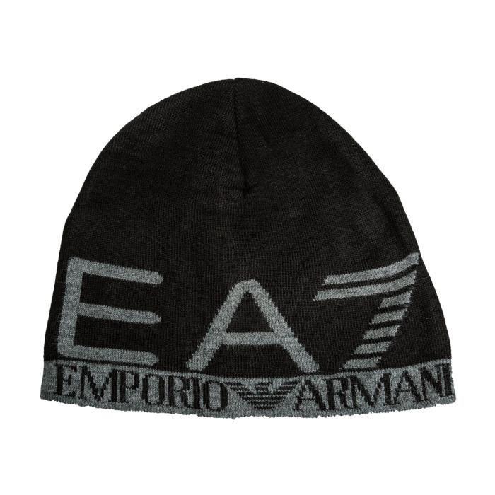Bonnet Emporio Armani EA7 Train Visibility en noir. Noir Noir ... bd23d113966