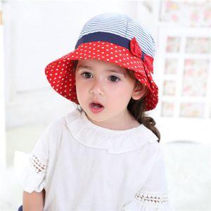 ... CHAPEAU - BOB Bébé Enfant Fille Chapeau de Soleil Bow tie Anti-U ... 336493b88fe