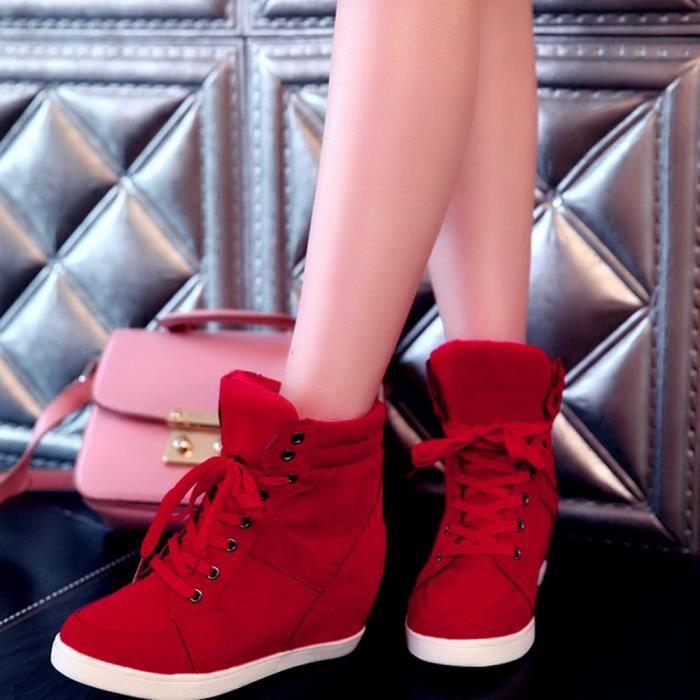 Femme Shoes Ronde Boots En Toe À Casual 9161 Lacets Mode Cuir Party qfnd6q