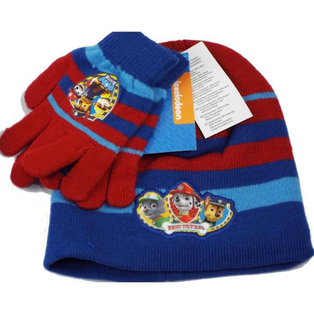 9c88c98ff6dae BONNET - CAGOULE Set bonnet et gants Pat Patrouille- Paw Patrol pou