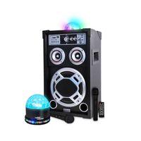 """PACK SONO Enceinte amplifié 300W 8"""" LEDs RVB USB/SD/BT + Dôm"""