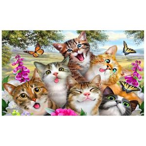 TABLEAU - TOILE 5D broderie diamant Rubik's cube Painting Tiger Ca
